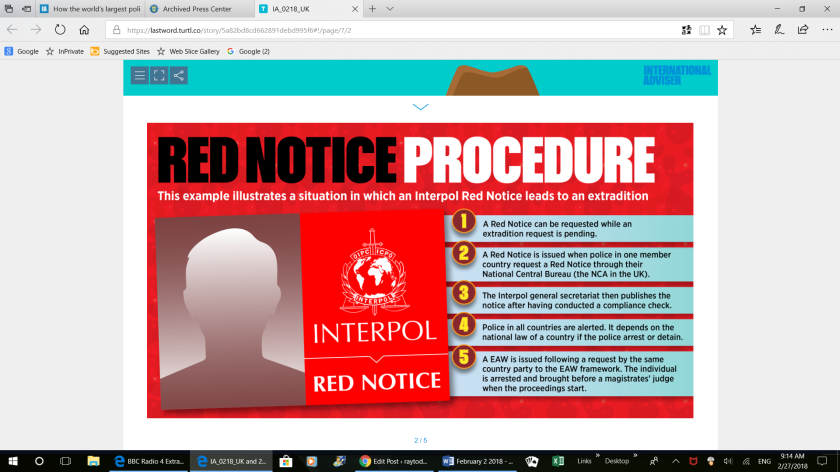 INTERPOL RED NOTICES & UK EXTRADITION – raytodd.blog
