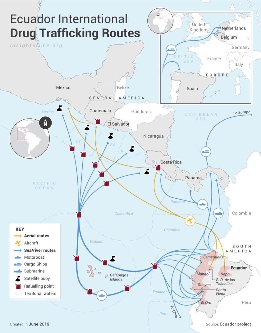 Ecuador_Rutas-internacionales-criminales_Map_InSight-Crime_14-06-2019